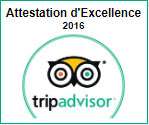 Attestation excellence TripAdvisor